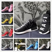 Wholesale New Stock Shoes - Pharrell Williams NMD HUMAN RACE SHOES COOL STOCK DROP SHIP Summer Shoes man New Fashion running shoes size 36-45