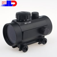 Wholesale Moa Rifle Scopes - Optics Sight 1X50 5 Brightness for Diverse MOA Illuminated Red Green Dot tactical Pistol and Rifle Scope for Picardine Free shipping