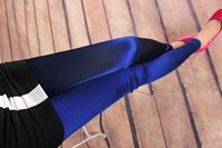 Wholesale Lowest Price Lycra Leggings - New 2016 Spring Summer Silk Leggings For Women Solid Smooth Capris Cheap Price Fitness Legging JQ5011