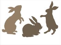 airbrush-muster schablonen großhandel-DIY weiße Airbrush-Schablonen-Musterdesign Maskierungsschablone für das Scrapbooking, Kartenherstellung, Malerei, DIY Karten, T-Shirts-das Kaninchen 051