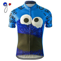 Wholesale El Clothing - NEW 2017 cycling jersey Cookie Monster blue bike clothing wear riding MTB road ropa ciclismo cool classic NOWGONOW tour man cool