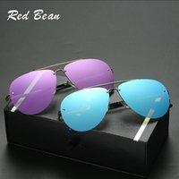 Wholesale Red Frame Safety Glasses - Newest fashionable safety sun glasses sunglasses wholesale Oversized Sunglasses Men Polarized eyewear17112