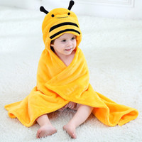 Wholesale Cotton Animal Shape Towel - 10 Designs New Baby Bath Towel Lovely Animal Flannel Cartoon Kid Hooded Bath Towels Soft Baby Towels Animal Shape Hooded Bath Towl 90cmx80cm