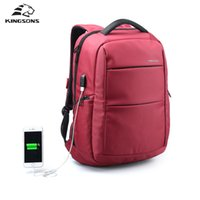 Wholesale External Charges - Kingsons External Charging USB Function Laptop Backpack Anti-theft Man Business Dayback Women Travel Bag 15.6 Inch