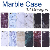 Wholesale Skin Back Cover - High Quality Hard PC Marble Skin Back Cover Case Protector Phone Plastic Cases For iphone 5 5S 6 6S 7 Plus Free Shipping