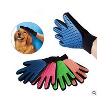 Fabric sport massage products - 4 Colors True Touch Deshedding Glove True Touch Cleaning Massage Dedeshing Dog Grooming Bath Dog Brush Comb Pet Hair Brush CCA5863