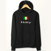 Italien Flagge Kapuzenpullis Nation treffen Partner Sweatshirts Land Fleece Kleidung Pullover Sweatshirts Outdoor Sport Mantel Gebürstete Jacken