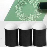 Wholesale Painting Finger - Wholesale- 3 pcs Sponge Daubers for Finger Daubers Sponger Foam applying ink, chalk,inking, staining DIY Crafts Scrapbooking Painting Tool