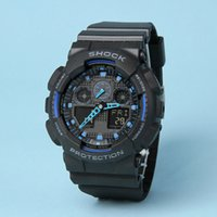 Wholesale G White Belts - top quality All pointer work ga100 Led Army Military Shocking Watches Mens Waterproof Watch Digital g Sports Wristwatch