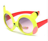 Wholesale pikachu mix - New Fashion Baby Kids Pikachu Sunglasses Boys Girls Eyewear Sun Glasses 24Pcs Lot Free Shipping