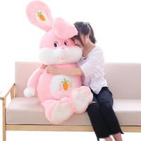 Wholesale huge stuffed animal pillows - New Lovely 150cm Huge Soft Cartoon Rabbit Plush Doll Stuffed Anime Bunny Toy Animal Pillow Baby Gift 59inch