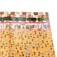 Wholesale Holiday Wrapping Paper - Wholesale- New Santa Claus Christmas sticker kid's wrap paper sheet cute wrapping paper for birthday holiday gift