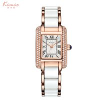 Wholesale kimio watches - 2017 Real New Kimio Luxury Jewelry Ladies Quartz Watch Dress Fashion Casual Women Watches Roman Numerals Rhinestone Bracelets Girls Watches