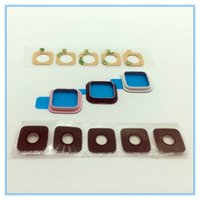 Wholesale Galaxy Note Camera Replacement - 100pcs lot New Camera Frame Glass Lens Bumper Cover Replacement For Samsung Galaxy Note 4 N910 Note 4 Edge N915 Free Shipping