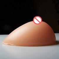 busto adhesivo al por mayor-Hot Crossdress Adhesivo de silicona artificial Forma de mama Forma de busto grande Almohadillas de mama Forma de mama falsa 1 par 1200g