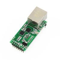 Wholesale Rs232 Serial Converter - Wholesale- Q002 1PC USR-TCP232-T2 RS232 Serial to Ethernet Module Tcp Ip UDP Network Converter Module TTL Lan Module with RJ45 Port
