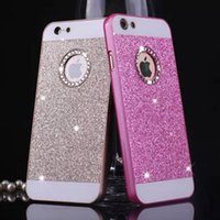 2017 Bling Logo Window Funda de teléfono de lujo para iPhone 5 5S SE 6 6S Plus 6 plus 6Splus 4.7