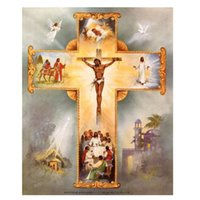 Wholesale Europe Christian - Religions Christian DIY Diamond Painting Embroidery 5D Handmade Rhinestone Cross Stitch Home Bedroom Wall Art Decoration Decor Craft Gift