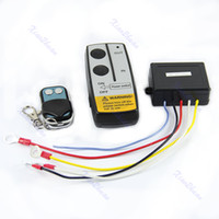 Wholesale Warn Winch Wireless Remote - Wholesale-12V Electric Winch Wireless Remote Control System For Truck Jeep ATV Winch Warn Ramsey