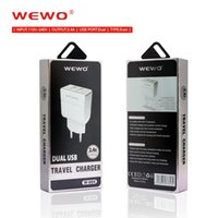 Wewo power bank telefon ladegeräte 2,4A 2 in 1 dual usb-ladegerät 110 V-240 V AC eingang eu-stecker adapter reise hause mit weiß