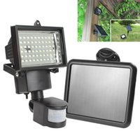 Wholesale Solar Flood Lights Panel - Wholesale-Hot Sale hot Solar Panel LED Flood Security Solar Garden Light PIR Motion Sensor 60 LEDs Path Wall Lamps Outdoor Emergency Lamp