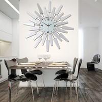 Wholesale High Quality Wall Clocks - Modern Luxury Wall Clock High Quality Silent 3D DIY Wall Clock European Style Wall Clocks Diamond