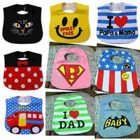 Wholesale Cartoon Wear New Cloth - New Cartoon Baby Bibs Waterproof Kids Infant Saliva Towels Emoji Baby Wear Protection Waterproof Towels Newborn Superhero Baby Cloths