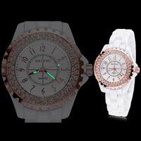 водонепроницаемые часы оптовых-SKONE световой кварцевые керамические часы Водонепроницаемые часы студентов