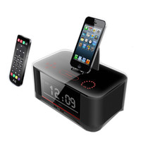 Wholesale Docking Speaker For Iphone - A8 Bluetooth Speaker Portable Loudspeaker NFC Dock Station for Apple Samsung ipod  touch Iphone 6 Clock Remote Control