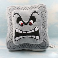 "Wholesale Super Mario Bros Plush Characters - Wholesale-New Super Mario Bros 9"" Thwomp Dossun Character Pillow Plush Toy Cushion Doll"