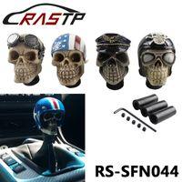 perilla de cambio de marcha calavera al por mayor-RASTP-Racing Gear Shift Knob principal del diablo Knob Modificado cráneo de la resina Soldado pomo con sombrero y gafas LS-SFN044