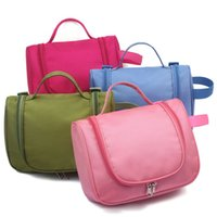 Wholesale Folding Clothes For Travel - 23*18.5*10Cm Multifunction Travel Organizer Waterproof Toiletry Bags Double Zipper Portable Makeup Case Perfect For Travel 5 Colors