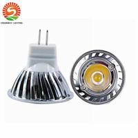 Wholesale Mini Led 35mm - On sale! MR11 1W 30pcs lot Mini led spotlight DC12V 35mm Mini indoor led lamp white or Warm white RoHS CE