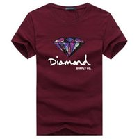 Wholesale Diamond Supply Tees - brand summer t shirt men's casual short sleeve cotton tops tees print diamond supply men t shirt hip hop male T-shir