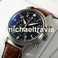 Wholesale Mens Brown Dial Watches - Mens Mechanical Watches automatic brown leather band silver case black dial free shipping mens watches Christmas gifts