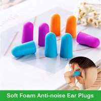Wholesale Ear Plugs For Sleeping - Colorful Soft Foam Anti-noise Ear Plug Slow Rebound Noise Prevention Earplugs for Studying Travel Sleeping Aviation