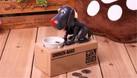 Wholesale Money Saving Pots - CHOKEN-BAKO Cute My Dog Model Piggy BANK Eat Eatten Bank Money Save Pot Saving Coin Box I Love Mony