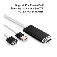 Wholesale Ipad Female Usb - HD Mirroring Cable Lightning USB to HDMI Adapter 1080P HDTV AV Adapter Output Connector for iPhone 7 7Plus iPad Samsung Galaxy Note Phone