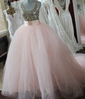 Wholesale White Royal Purple Ballgown - Detachable Blush Pink ball gown skirt removable blush tulle romantic blush bridal skirts princess ballgown skirt