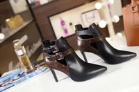 Wholesale High Women Shose - 2017 new arrived genuine leather women boots design autumn and winter ooriginal quality brand ladies shose Pointed 3.5cm high