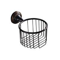 ingrosso rotoli di carta nera-Nuovi accessori da bagno con finitura nera anticata per il bagno progettati / porta carta igienica / set per il bagno portarotolo per la casa