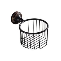 Wholesale Antique Bathroom Sets - New designed Wall Mounted Antique Black Finish Bathroom Accessories  Toilet Paper Holder  bathroom sets toilet roll holder for home sale