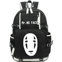 Wholesale Zipper Face Mask - Mr No Face backpack Mask man daypack Totoro schoolbag Anime rucksack Sport school bag Outdoor day pack