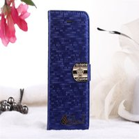 Wholesale S3 Leather Diamond - 300PCS Luxury Diamond Crystal PU Leather Case Cover for Samsung S3 S4 S5 S6 Note2 Note 2 3 4 Edge No Package