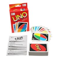UNO Poker Card Family Fun Entermainment Jeu de société Standard Edition Kids Funny Puzzle Game Cadeaux de Noël hot sell