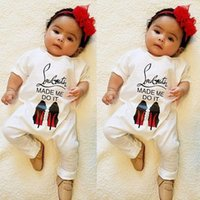 Wholesale One Tutu - Baby Spring Autumn Long Sleeve Rompers Kids Cotton Jumpsuit Newborn Baby Letter Wide Collar One Piece Cotton Rompers Infant Clothes