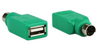 Wholesale usb male ps female for sale - New Universal Mouse Mice Keyboard USB Type A Female to PS2 PS pin mini din Male Adapter Converter Adaptor Green