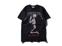 hba camisa cadera al por mayor-Yeezus Tour Kanye West camiseta Merch Indian Headdress Skull Red Letter manga corta camiseta camiseta HBA hip top T-shirt TOPS