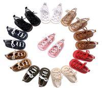 Wholesale Kids High Heels Wholesale - Baby Girls sandals Summer toddler kids flat heels lace-up sandals 10 Colors girls sandals baby high gladiator sandal child PU shoesQ1002