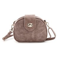 Wholesale Oval Clutches - Fashion Oval Small Handbags Brand Old Leather Women Evening Clutch Bag Ladies Mini Phone Shoulder Bag Crossbody Bags